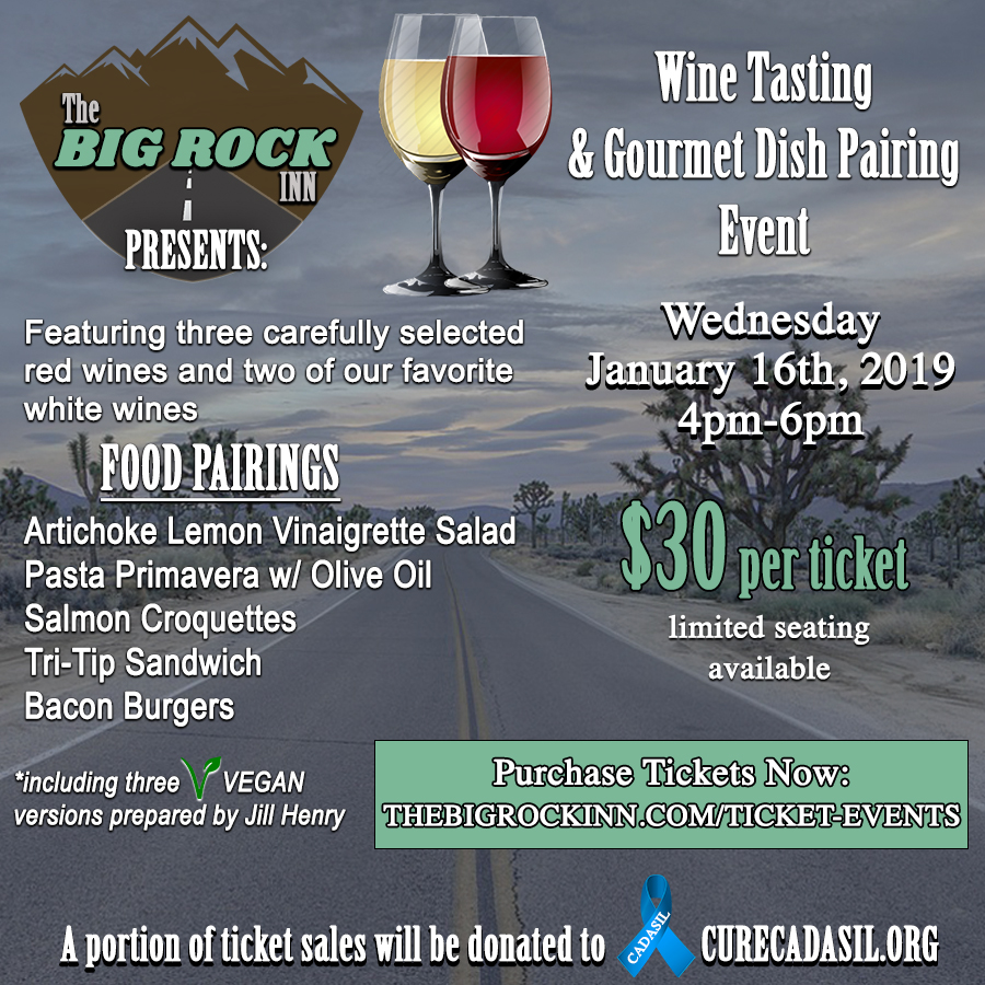 The Big Rock Inn Food and Wine Pairing Event