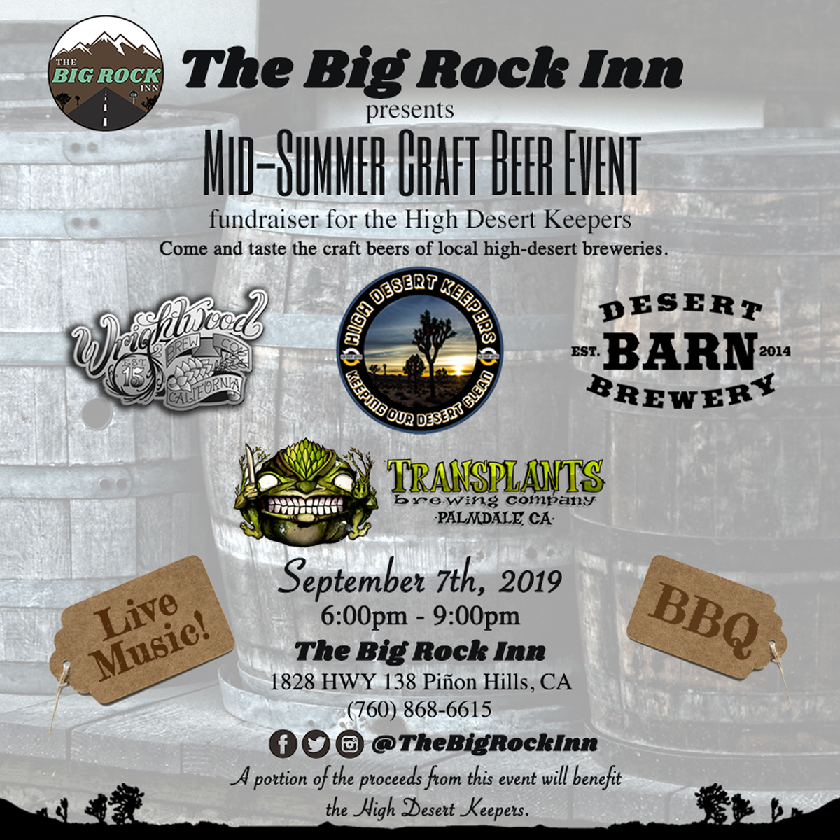 Mid-Summer Craft Beer Fundraiser for the High Desert Keepers | September 7th