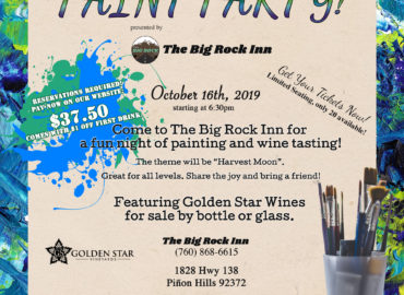 Paint Party at the Big Rock Inn | October 16th