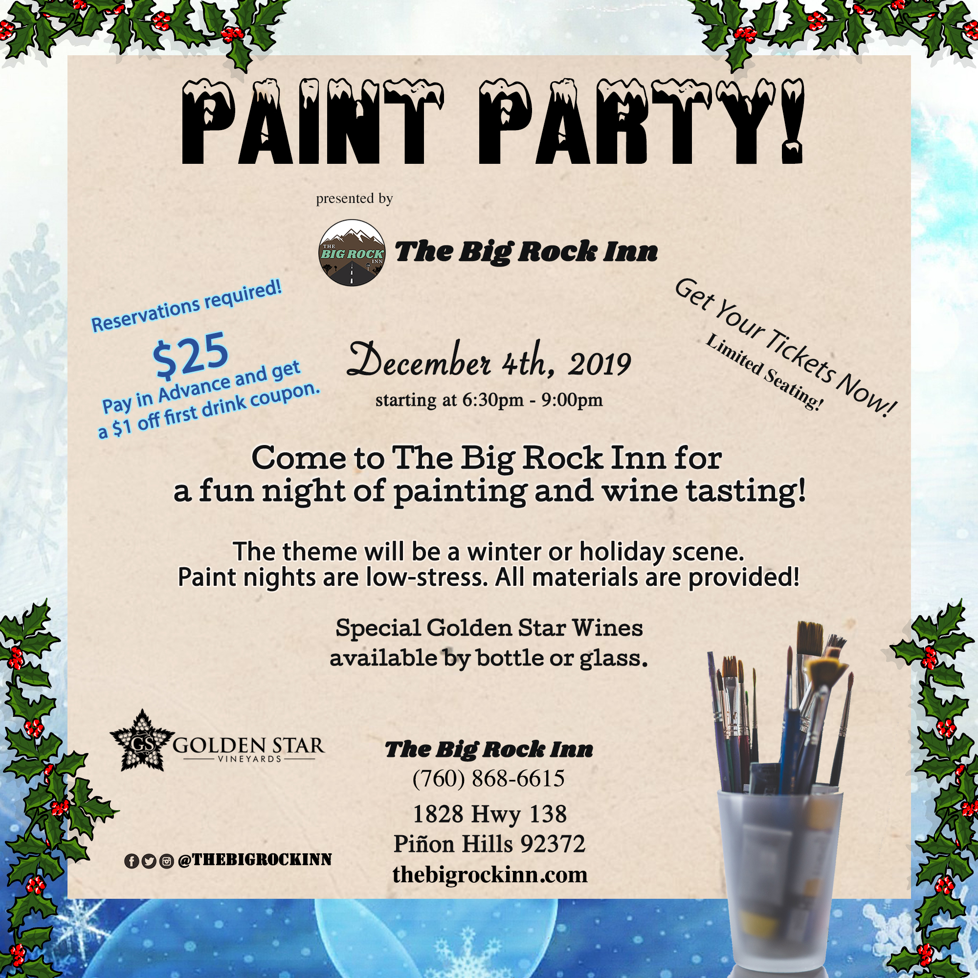 Paint Party | The Big Rock Inn