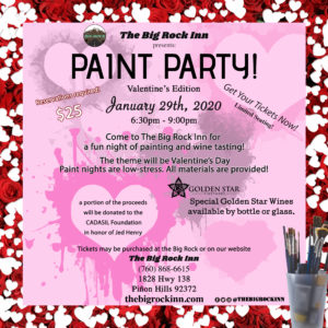 Valentine's Day Paint Party | The Big Rock Inn