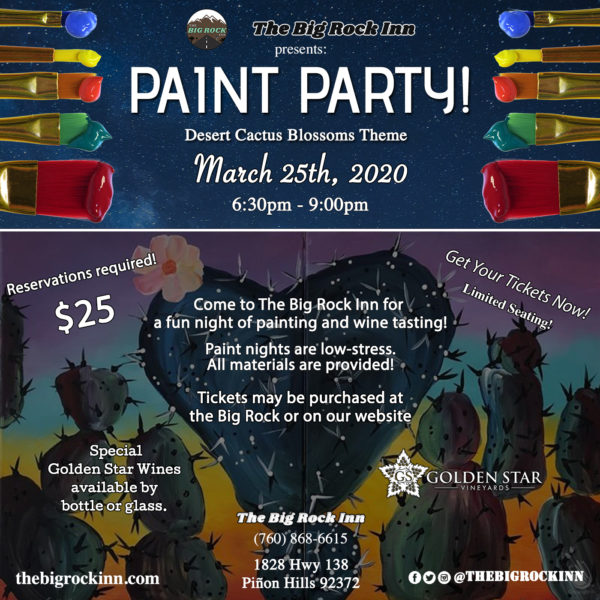 Desert Paint Party | The Big Rock Inn