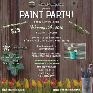 Spring Paint Party | The Big Rock Inn